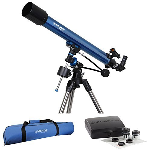 Meadeポラリス70 mm Refractor Telescope W /旅行バッグ&接眼レンズアクセサリキット