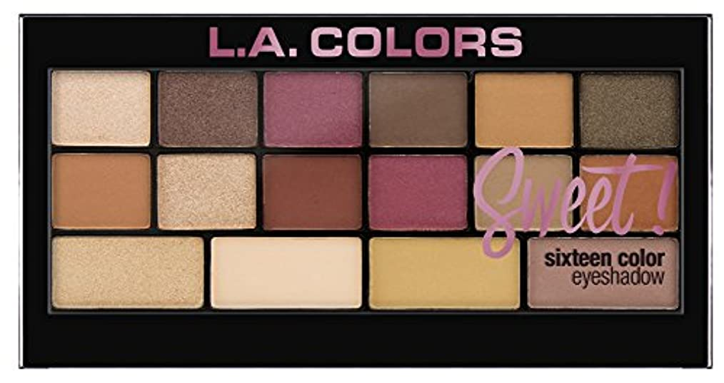 マティスゴール印刷するL.A. Colors Sweet! 16 Color Eyeshadow Palette - Brave (並行輸入品)