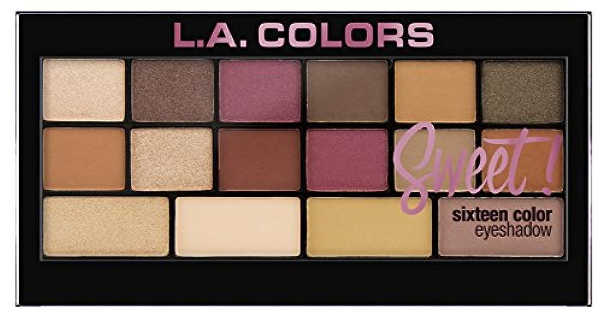 声を出してスナック明示的にL.A. Colors Sweet! 16 Color Eyeshadow Palette - Brave (並行輸入品)