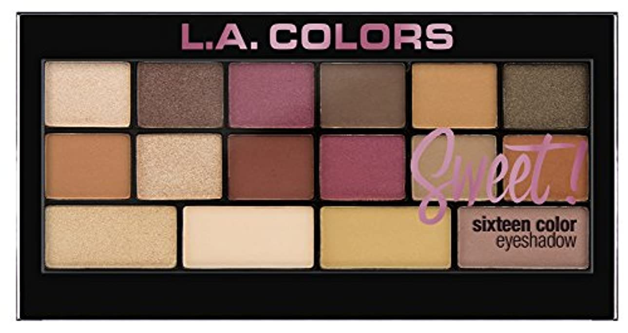 ボタン製作日常的にL.A. Colors Sweet! 16 Color Eyeshadow Palette - Brave (並行輸入品)