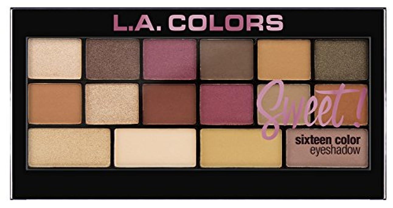 ブランド放棄テーブルを設定するL.A. Colors Sweet! 16 Color Eyeshadow Palette - Brave (並行輸入品)