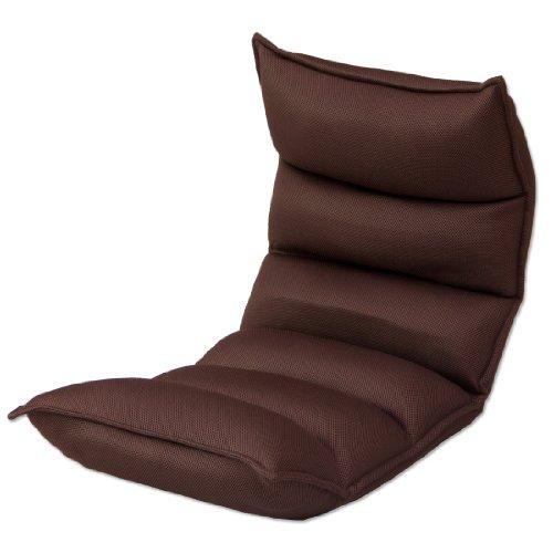タンスのゲン 低反発座椅子 リクライニング ロココ 【メッシュ】 ブラウン AM 000056 03