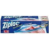 ジップロック フリーザーバッグ Lサイズ 30枚入 ジッパー付き保存袋 冷凍・解凍用 (縦27.3cm×横26.8cm)