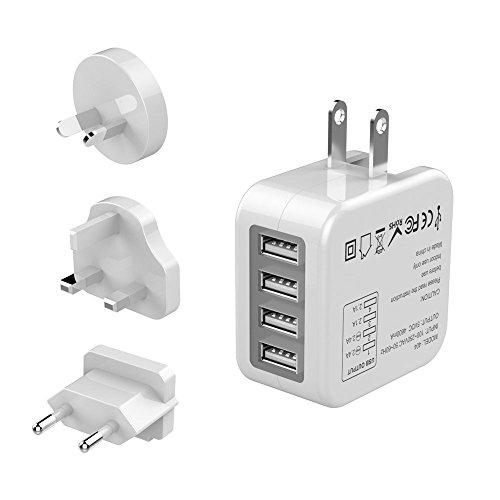 海外旅行用USB充電器 ACアダプター 4ポート折畳式 変換...