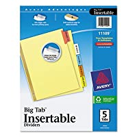 WorkSaver BigタブReinforcedディバイダー、マルチカラー、タブ、5-tab、Ltr、Buff 1 /セット、合計48 ST , Sold as 1カートン