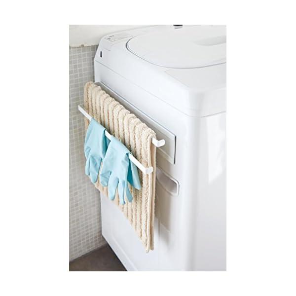 山崎実業 洗濯機横マグネットタオルハンガー 2...の紹介画像3