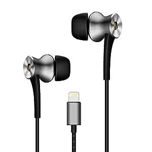 1MORE デュアルドライバー ノイズキャンセリング インイヤー型イヤホン 高音質 Hi-Fiサウンド インイヤー ヘッドホン ライトニング コネクター ノイズ遮断 高遮音性 有線 リモコン・マイク付き Apple専用 iPhone7/iPhone8/iPad/iPodに対応 E1004 グレー