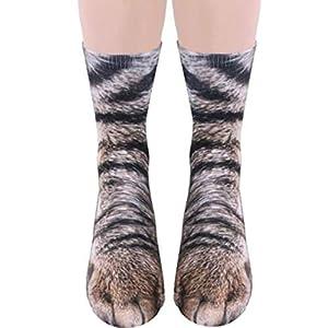 レンコス(Lemcos)動物の足 ソックス 立体 靴下 防寒 レディース・メンズ Unisex 男女兼用 大人 ファッション (猫)