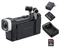 【追加充電式バッテリー+BT-02充電器+ACアダプター+SDHCカード/32GB付】ZOOM ズーム Q4n 音にこだわるクリエイターのためのビデオレコーダー