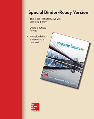 Download Loose Leaf for Corporate Finance (Mcgraw-hill/Irwin Series in Finance, Insurance, and Real Estate) 125970968X