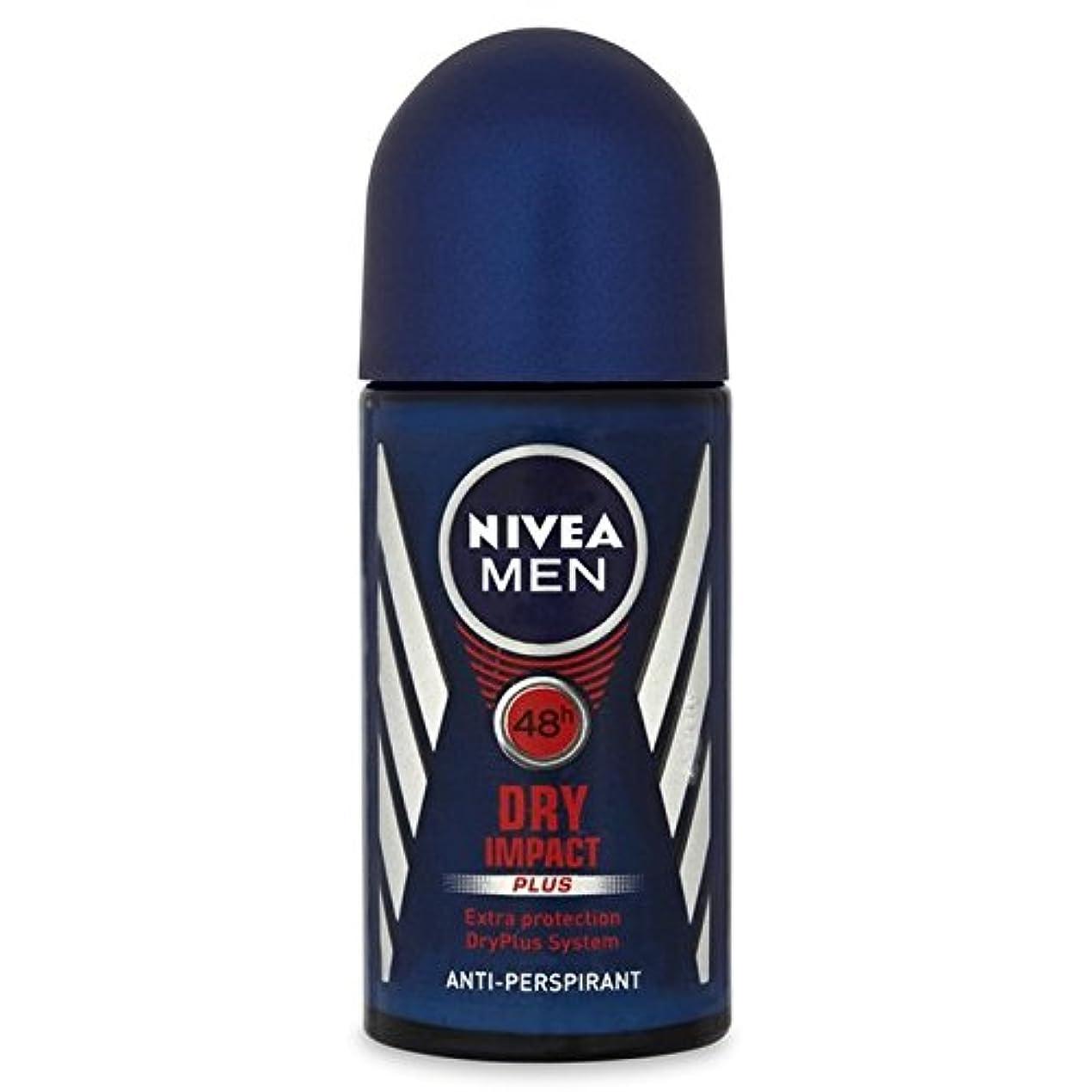 柱たとえレッスン制汗デオドラント50ミリリットルのニベア男性の目に見えない影響ロール x4 - Nivea Men Invisible Impact Roll On Anti-Perspirant Deodorant 50ml (Pack...