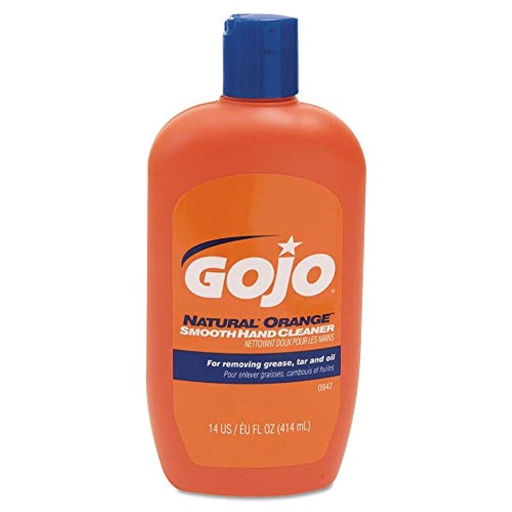 ライムあらゆる種類の規制するGOJO 0947 – 12 14-oz。ナチュラルオレンジハンドクリーナーローションW/NA