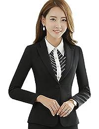 [美しいです] レディース スーツ コート 長袖 レジャー OL スリム 春 秋 就活 通勤 ビジネス用 面接 小さいサイズ