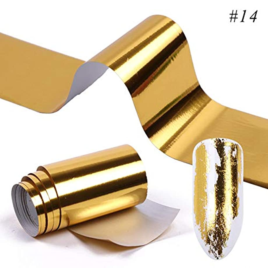 連邦つかの間前SUKTI&XIAO ネイルステッカー 1ピース光沢ネイル箔金属カラフルな星空転送ステッカースライダーネイルアートペーパークラフトデカールマニキュア装飾