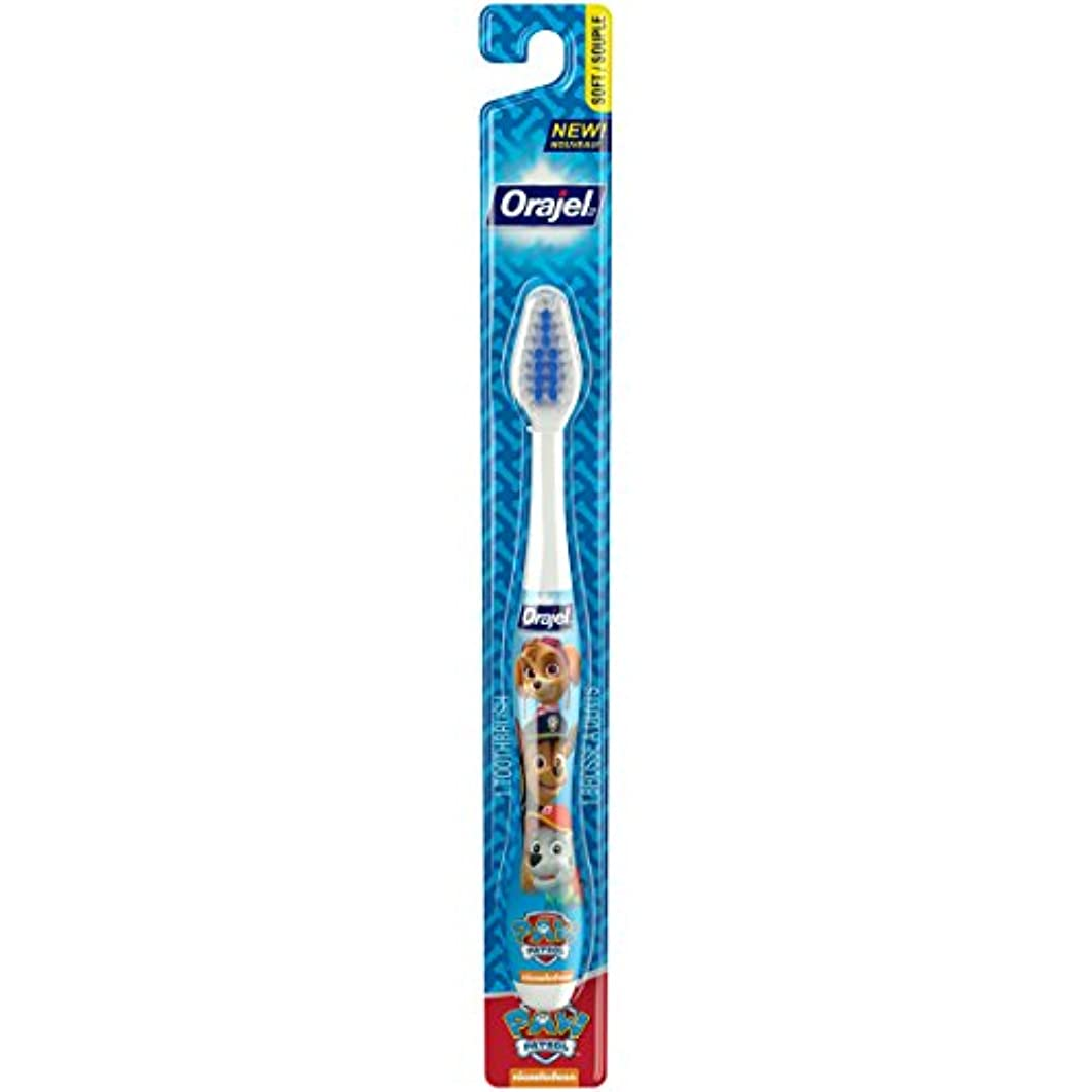 短くする主人ビーズOrajel ポウパトロール幼児の歯ブラシ