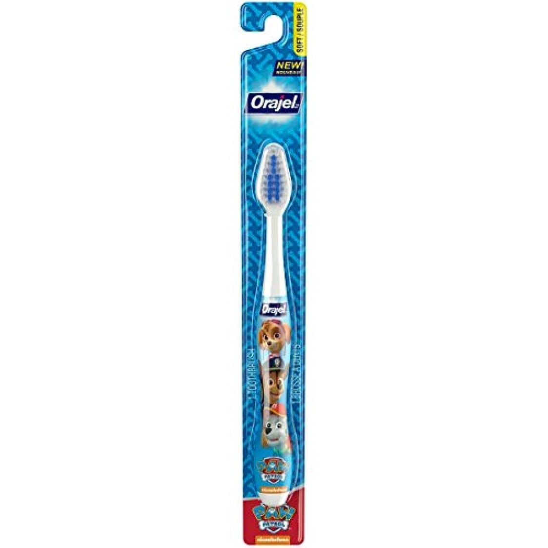 位置づける閃光平らにするOrajel ポウパトロール幼児の歯ブラシ