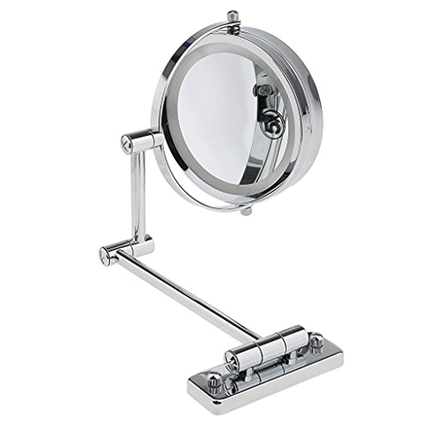 衛星音楽実質的にKOZEEY SMDライト 両面ミラー 壁掛け式 5倍拡大鏡 360度回転 エチケットチェック