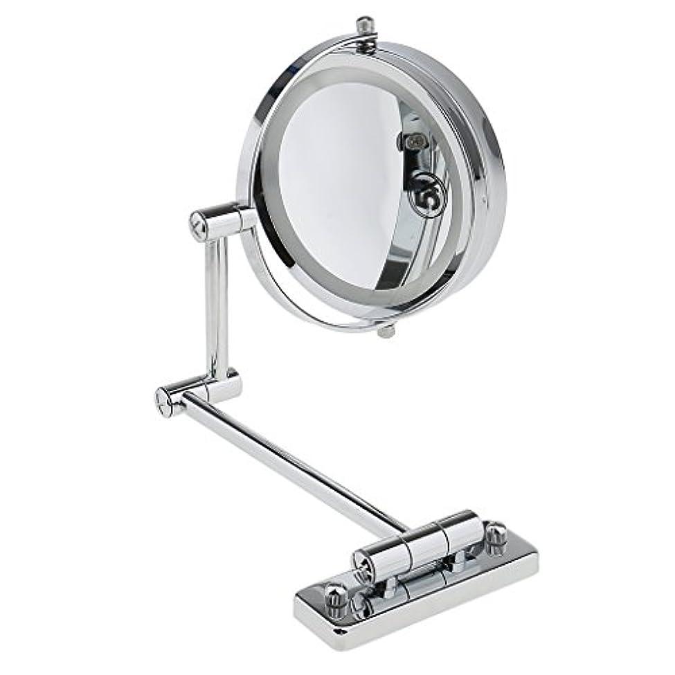 リラックスした代表するジャケットSMDライト 両面ミラー 壁掛け式 5倍拡大鏡 360度回転 エチケットチェック