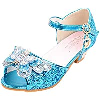 通用 Hebang Girls Princess Ballet Shoes Plat Glitter Dress for Pretty Girl Summer