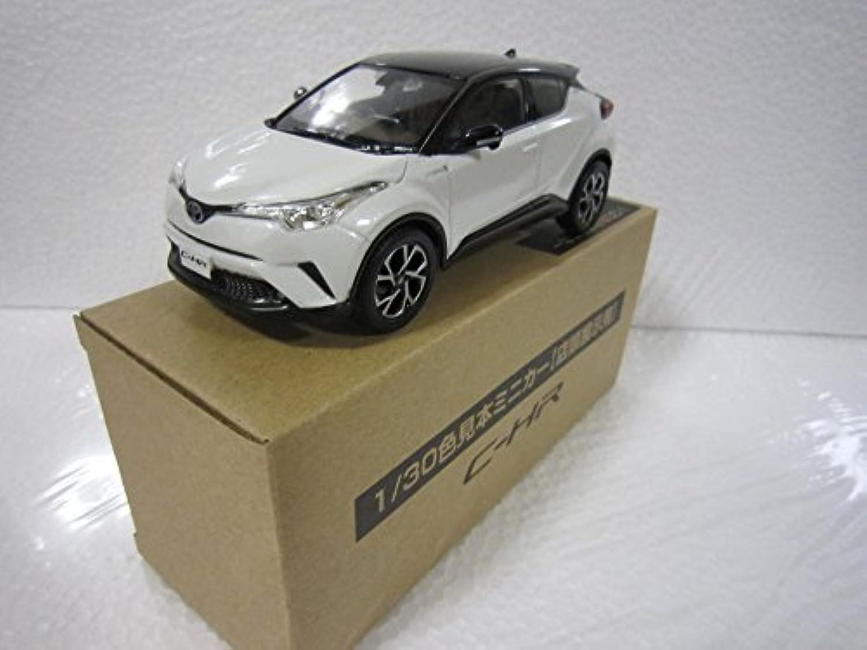 トヨタ 1/30 オフィシャルミニカー 新型C-HR ツートンカラー カラーサンプル ブラック202Xホワイトパール070