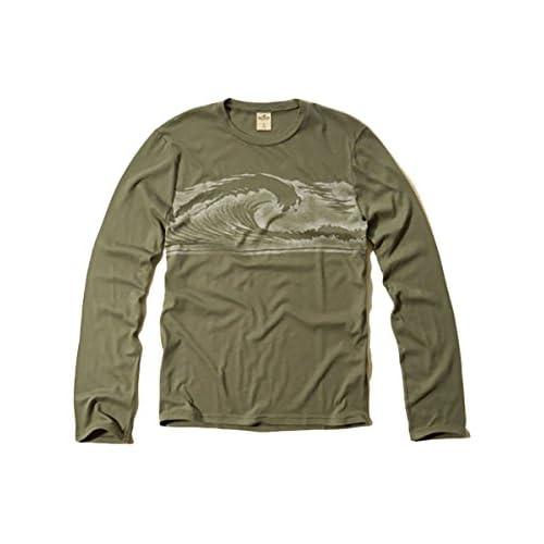 (ホリスター) Hollister Co. ホリスター メンズ ロンT 長袖 Tシャツ ロングスリーブ [オリーブ/グラフィックプリント] 並行輸入品 Mサイズ