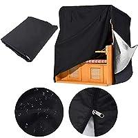 屋内および屋外用家具ダストカバー テーブルと椅子のカバー 保護カバー、 防水 UV保護、 ポータブル 収納袋 カスタマイズ可能,黒,130*100*170cm