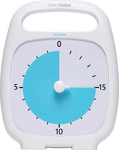 タイムタイマー プラス 20 (ホワイト) アラーム 取っ手付き Time Timer PLUS 20 (White) TT20-W