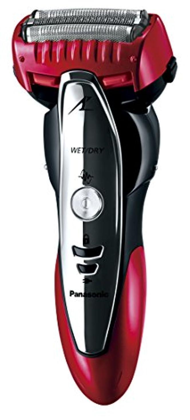フィードオンコンテストグラフィックパナソニック ラムダッシュ メンズシェーバー 3枚刃 お風呂剃り可 赤 ES-ST39-R