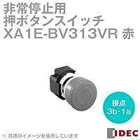 IDEC (アイデック) XA1E-BV313VR φ29中形 プリント基板用端子形プッシュロックターンリセット(非照光式・メイン接点:3b・モニタ接点:1a) 赤 NN