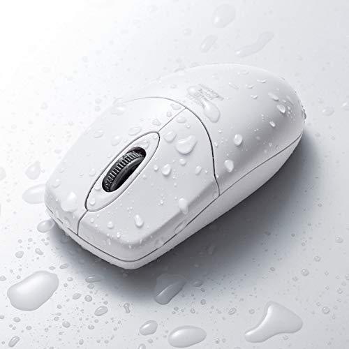 サンワダイレクト ワイヤレスマウス 防水 防塵 IP68取得 抗菌 IRセンサー 1600カウント 400-MA113W