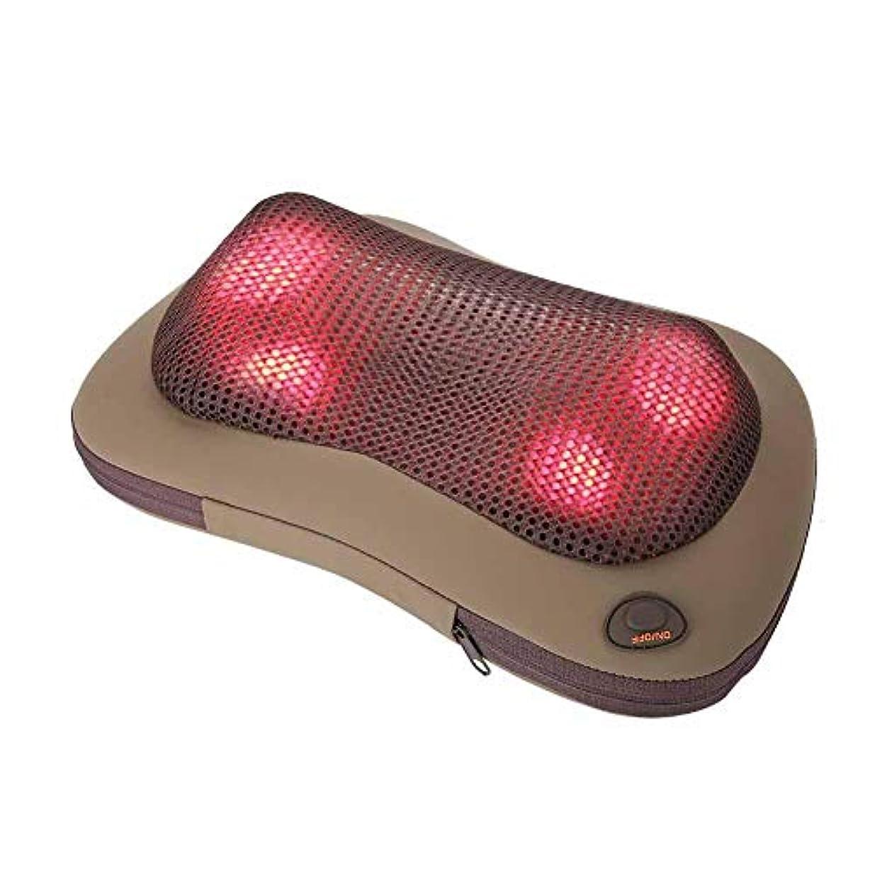 場所マナー白い携帯用 電気マッサージ 枕 暖房療法 首 ウエスト 足 腕 マッサージ用具(グレー)