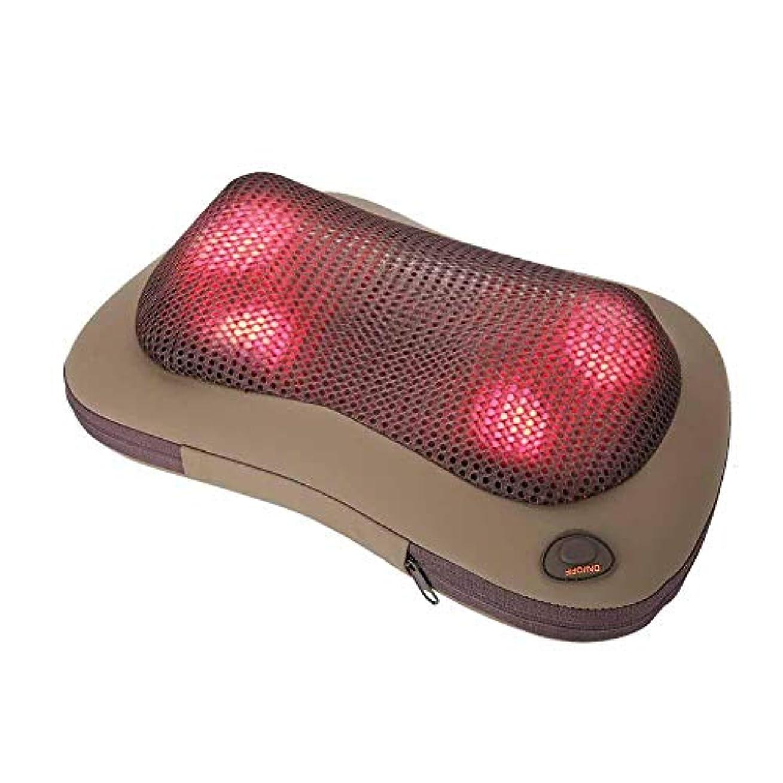 楽観回転聴覚携帯用 電気マッサージ 枕 暖房療法 首 ウエスト 足 腕 マッサージ用具(グレー)