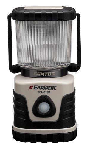 GENTOS(ジェントス) エクスプローラー LEDランタン SOL016B ライトモカ 明るさ600ルーメン/実用点灯40時間 SOL-016B