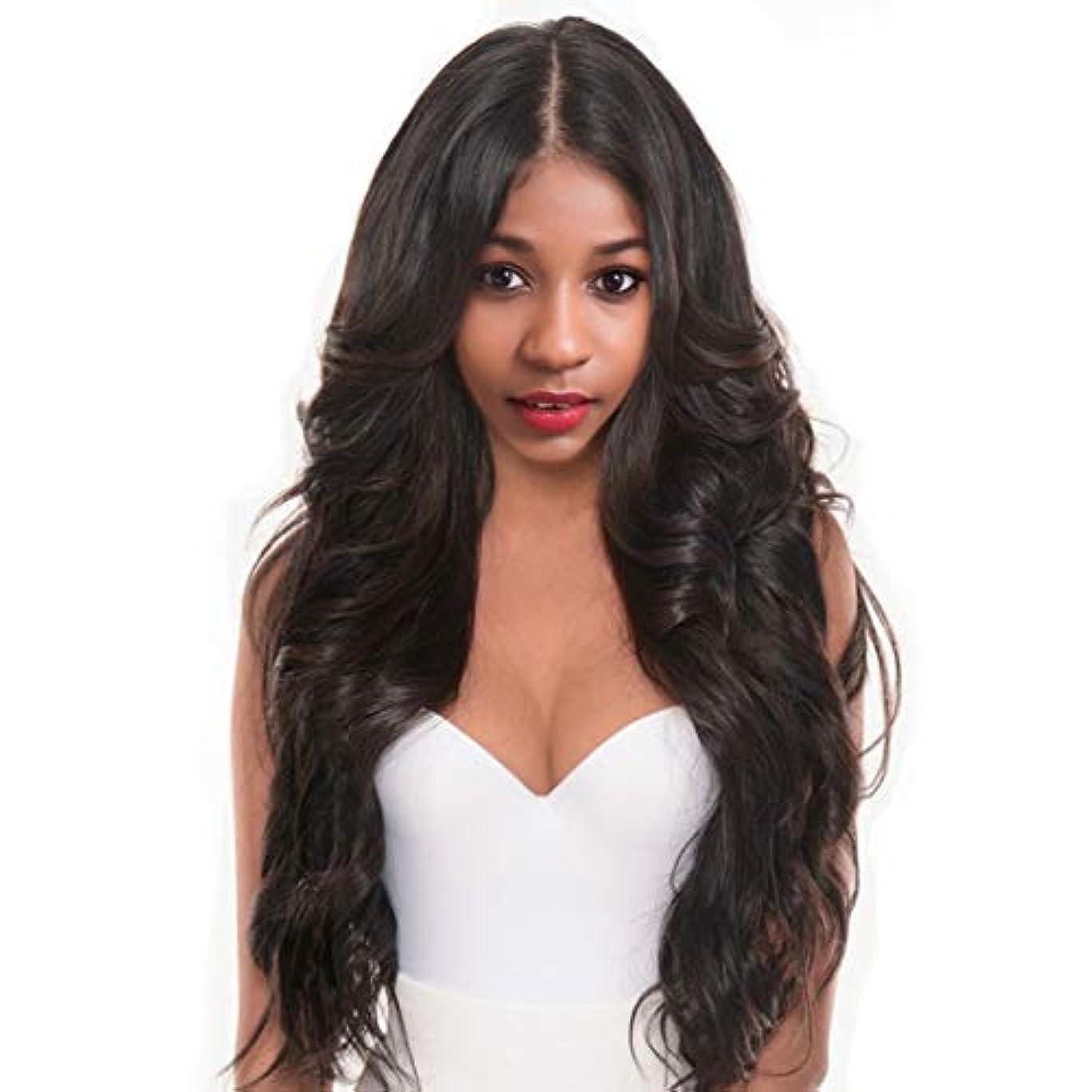 主豚頑固なKerwinner ヘアウィッグボディ波状巻き毛100%カネカロン毛繊維合成毛髪かつら女性