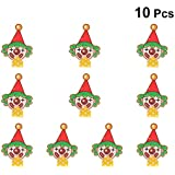 Amosfun 10pcs Party Blowout Green Hair Clown Cartoon Funny Kids Whistle Toy Party Noisemakers Supplies for New Years Party Birthday Party Favors