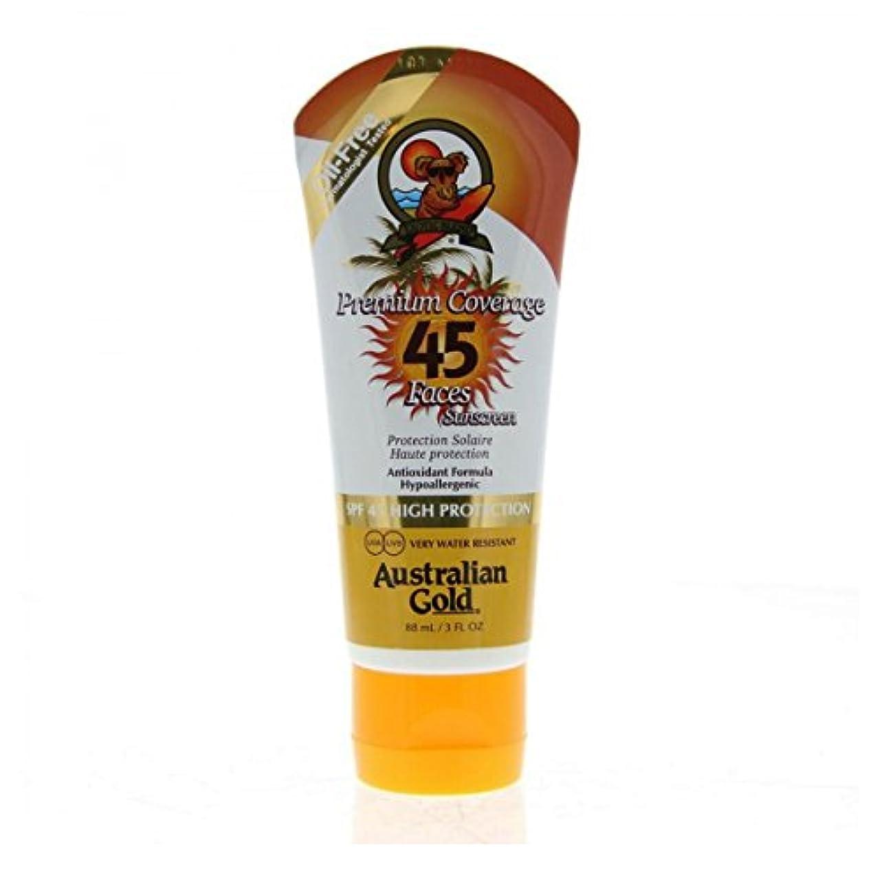 インペリアル崩壊薄暗いAustralian Gold Premium Coverage Face Spf45 88ml