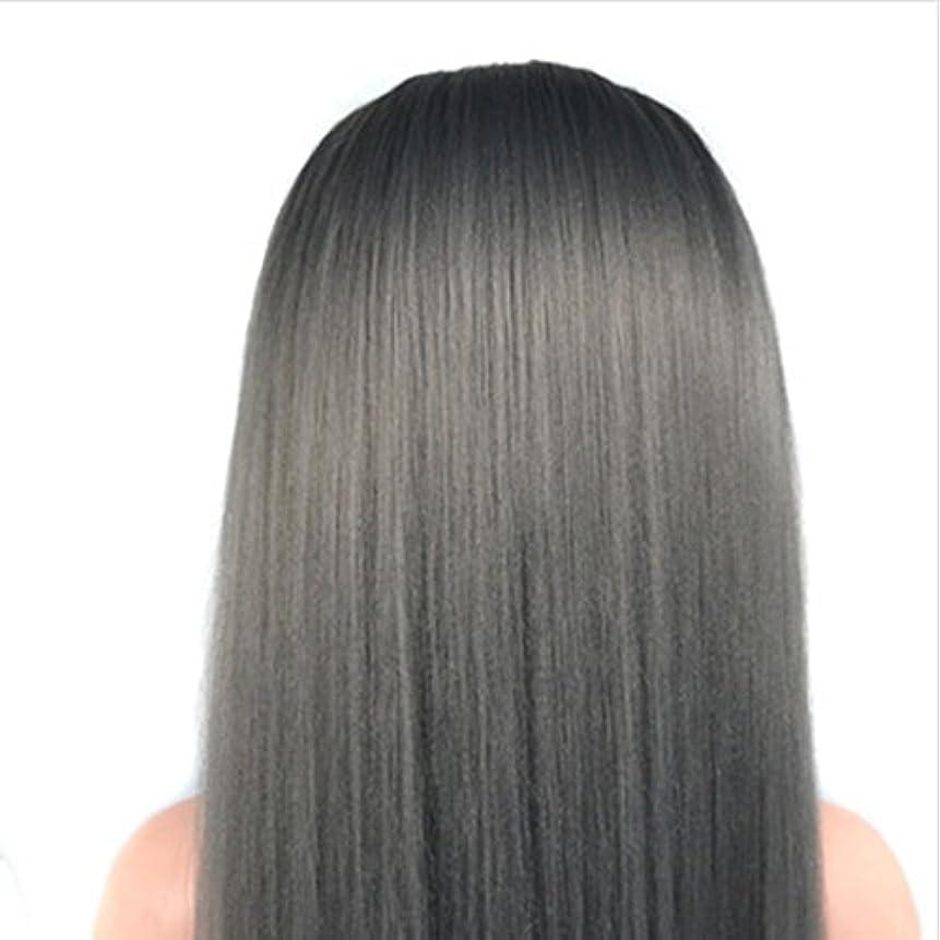 後方に等々列挙する人間の毛髪が付いている60 cmのかつらの頭部の化粧品のマネキンのマネキンの訓練の頭部 ヘアケア (色 : Grandma gray)