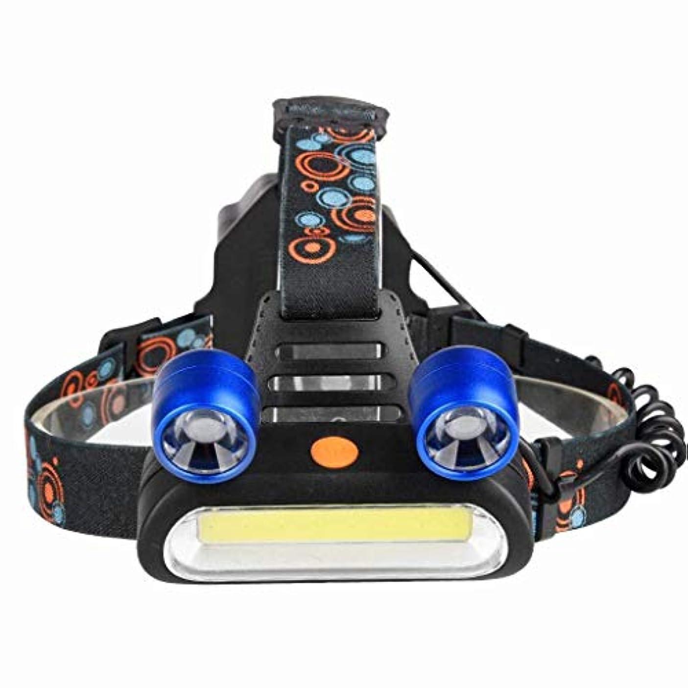 再生的変なラベンダーXIAOBUDIAN LEDヘッドライトCOB + T6屋外用ヘッドライト懐中電灯照明用強力ヘッドライトUSB充電式4モード