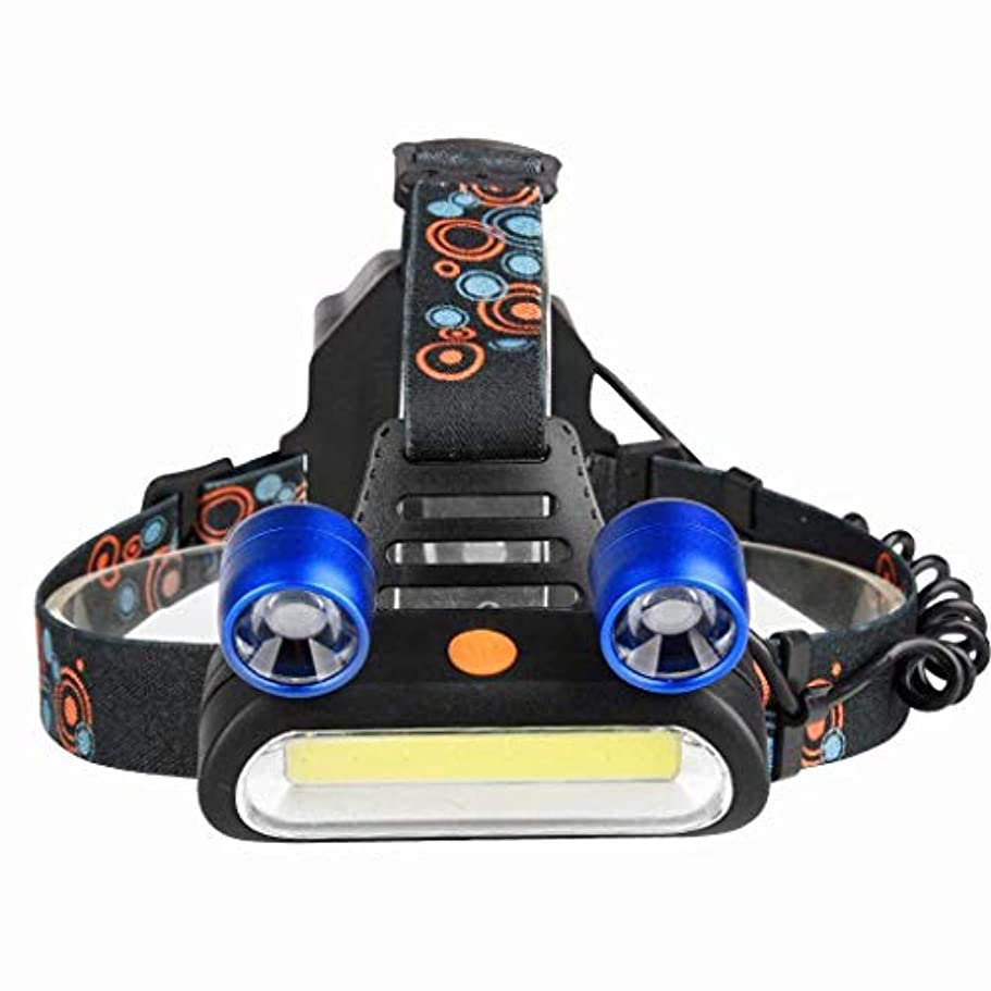 退屈させる南西看板XIAOBUDIAN LEDヘッドライトCOB + T6屋外用ヘッドライト懐中電灯照明用強力ヘッドライトUSB充電式4モード