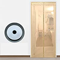 マグネット付き簡単網戸 玄関網戸,蚊帳 マジックテープ付き 網戸カーテン 自動で閉-110×230センチメートル(43×91インチ)-C
