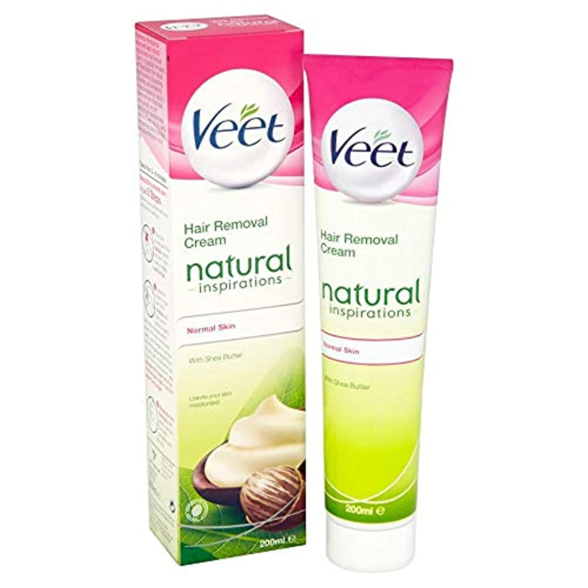 仕事ピービッシュくぼみVeet Naturals Hair Removal Cream for Normal Skin 200ml by Veet