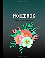 Notebook journal: Watercolor flowers Journal: Blank Lined Notebook, Floral Diary, Calendar for the Year 2020 - Holidays and Observances- 120 Pages - Large (8.5 x 11 inches)