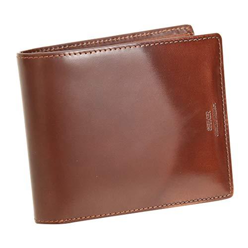 b48b859d2dcf [シーカー] SKW-014402 本革 二つ折り財布 メンズ キャメルの画像