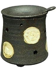 常滑焼?焜清 カ39-08 茶香炉 ドット 径9.5×9.5cm