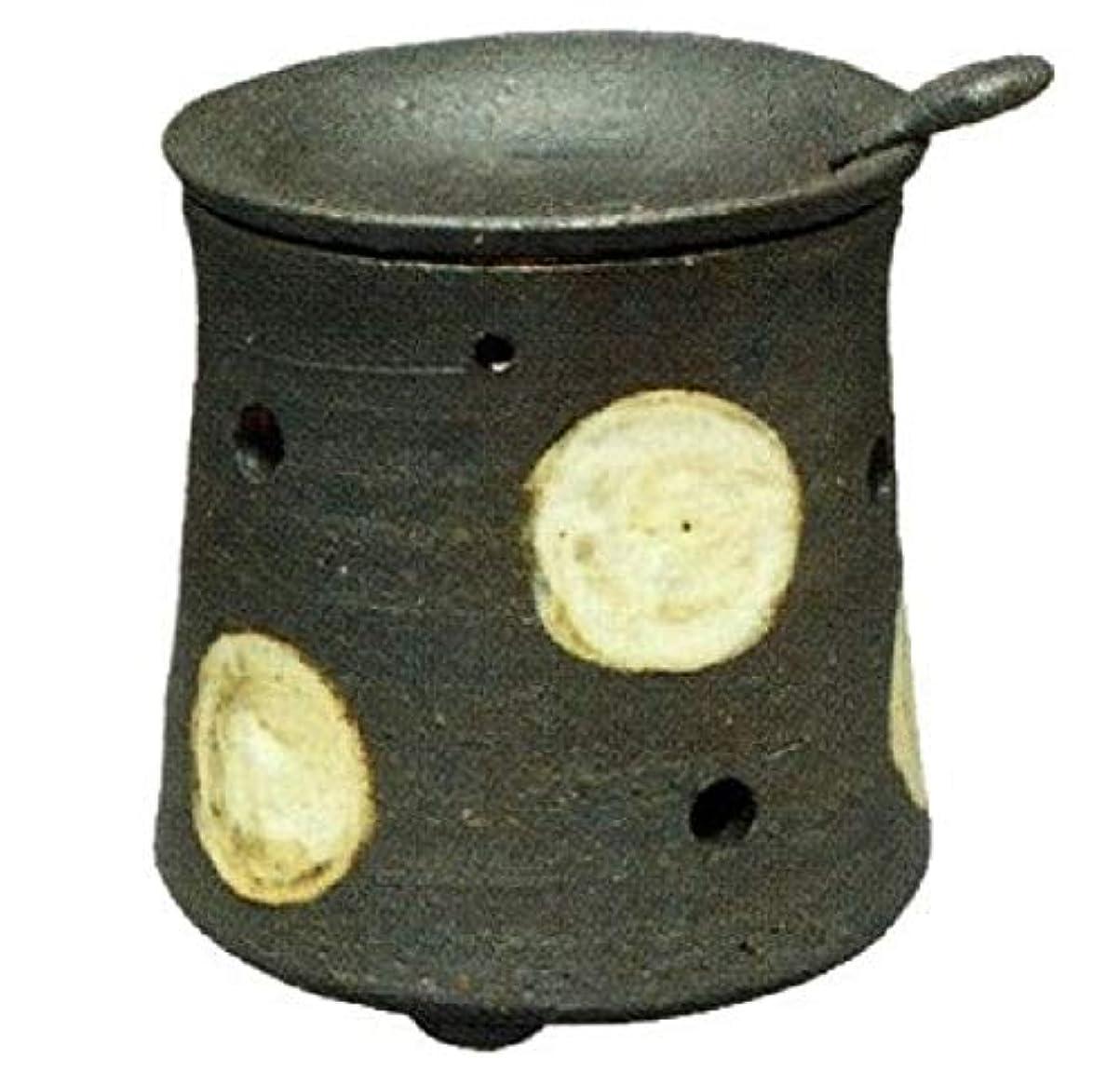 レポートを書く証人レイプ常滑焼?焜清 カ39-08 茶香炉 ドット 径9.5×9.5cm