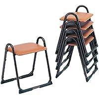 【アルミ製】 アルミスツール H2 【5脚セット】 寺院用椅子 本堂用 寺院 スツール 積み重ね スタッキング 収納