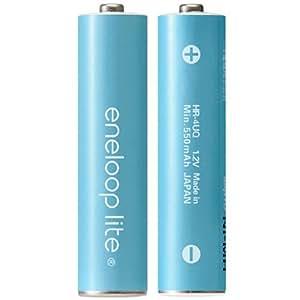SANYO eneloop lite 充電式ニッケル水素電池(単4形2個パック) [HR-4UQ-2BP]