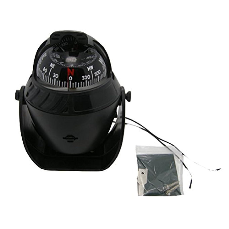 コンサート教育するスケートodowalker電子LEDライトMarineデジタルコンパスSuitable for車ボートとトラックブラックホワイト