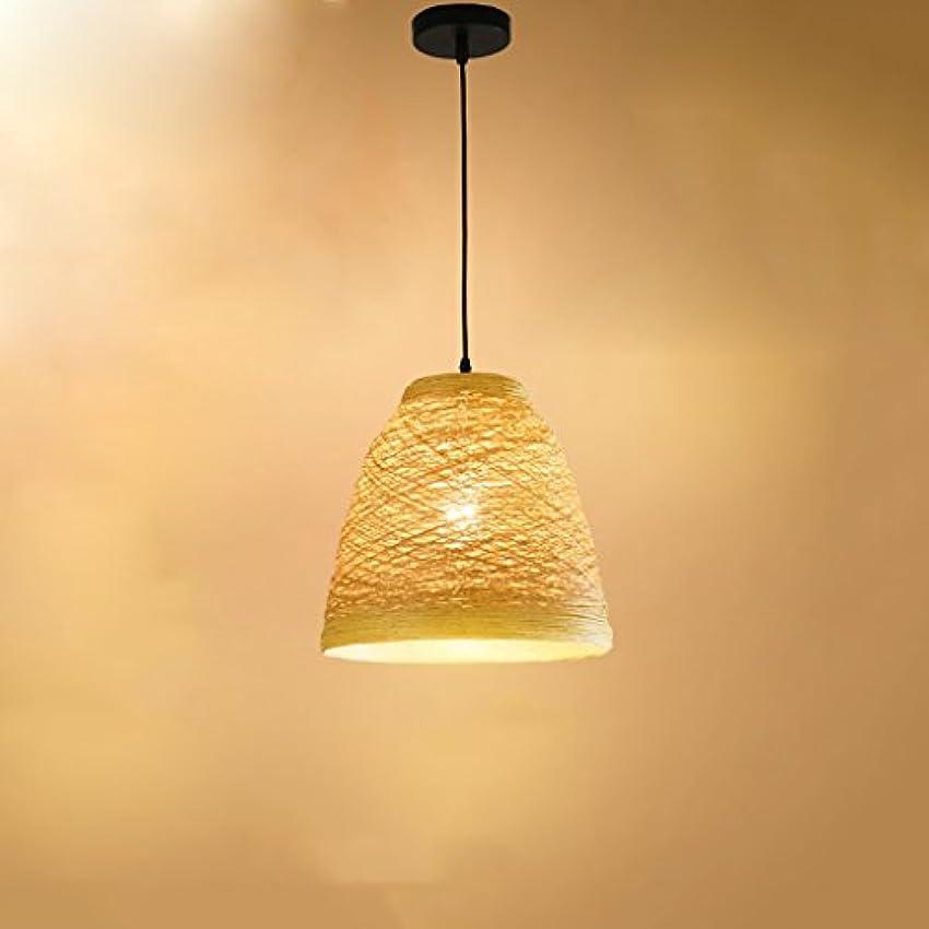 健全五月セレナペンダントライト ハットシングルヘッドシャンデリアレストラン?カフェクリエイティブラタン編みライトパーソナリティ牧歌的なスタイルに点灯します。
