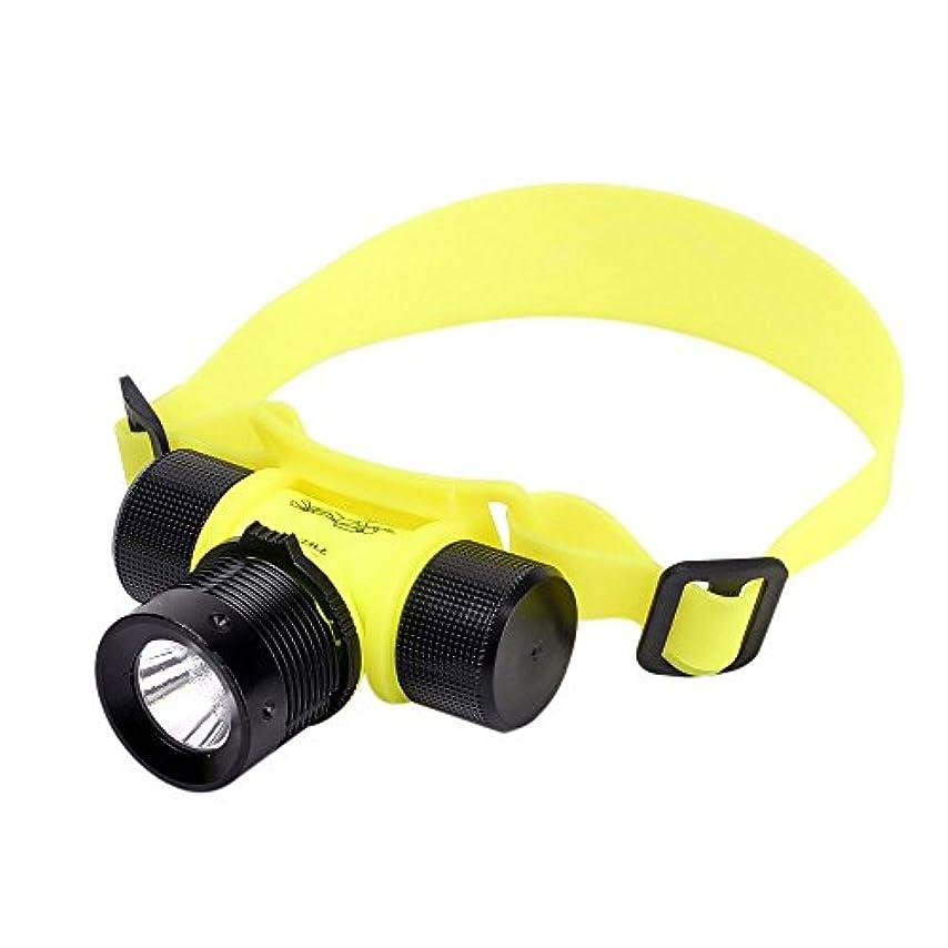 振り向く形容詞メイエラスーパーブライト 充電式水中ヘッドランプ前面懐中電灯LEDライト作業ヘッドライト軽量ダイビングヘッドランプスキューバダイビングトーチ